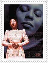 Portia White Stamp - Courtesy Canada Post
